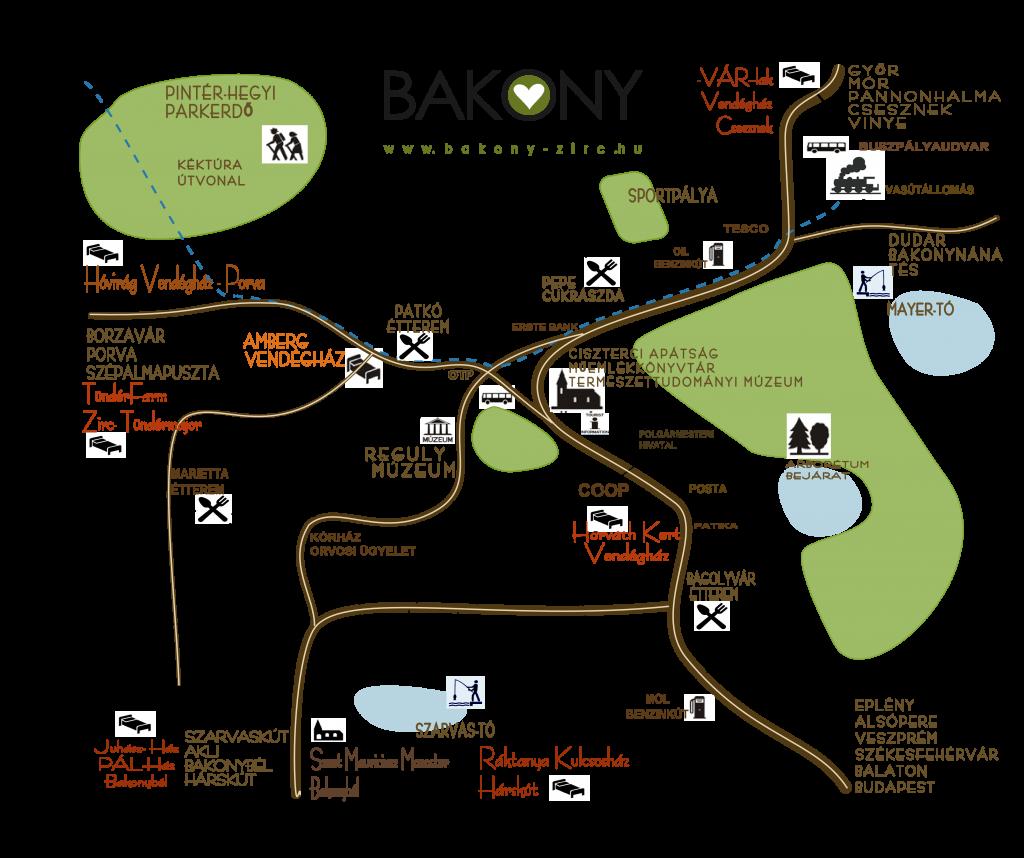 zirc térkép Bakony Zirc – Érezd jól magad a Bakonyban! zirc térkép